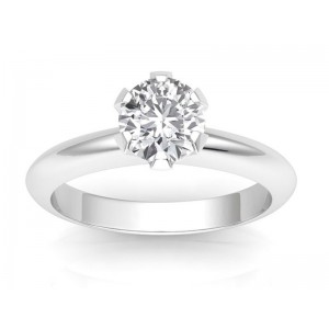 0.70 carat Platinum - Classic Six-Prong /Six-Claw Engagement Ring