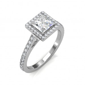 The Khloe Princess-Halo Ring