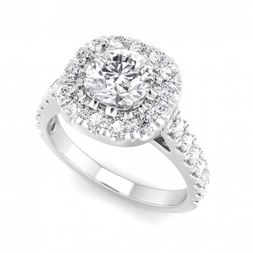 The Carla Cushion-outline Halo Ring