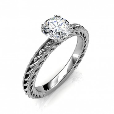 The Amor Etched Rope Ring
