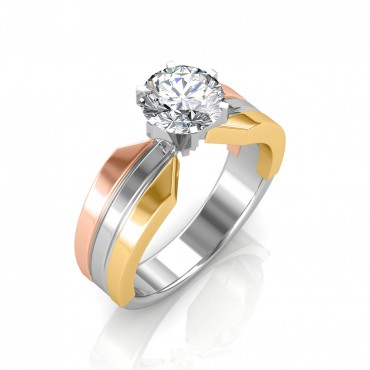 The Trio Solitaire Ring