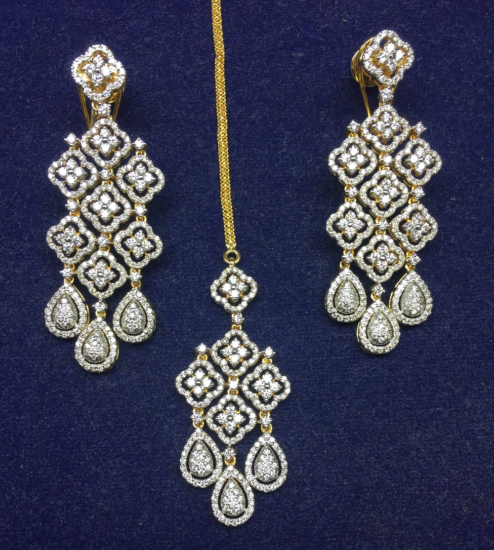 Long Diamond Pendant Set