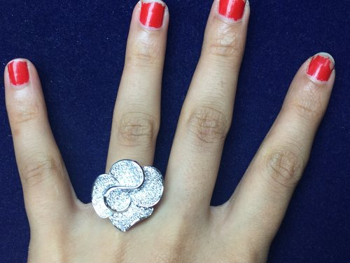Designer Flower Diamond Ring